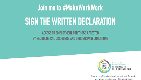 Access to employment for those affected by neurological disorders and chronic pain conditions