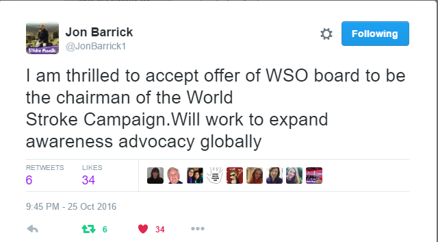 SAFE's President is the next Chairman of the World Stroke Campaign