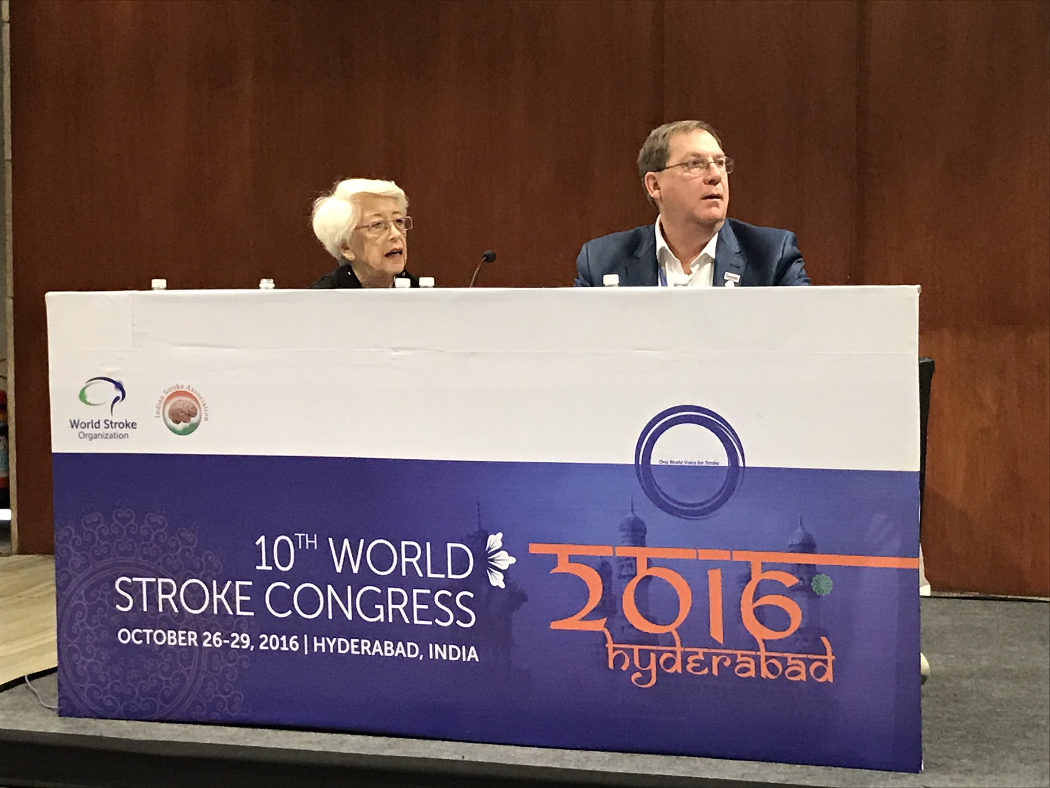 Self management in stroke at WSO Congress in Hyderabad, India