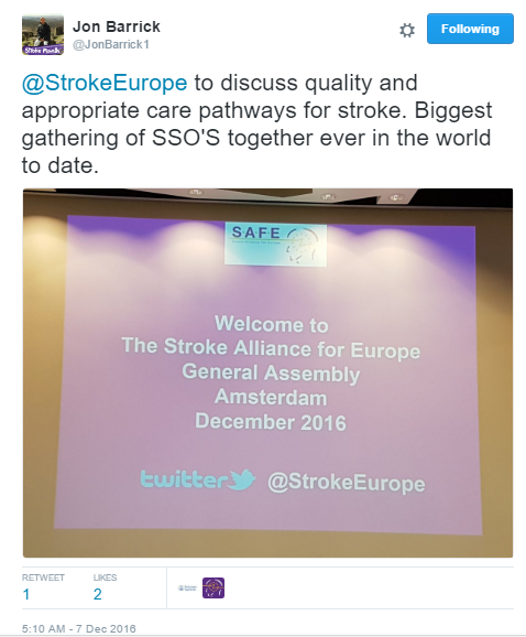 SAFE Working Conference: Burden of stroke seen through 12 indicators of care