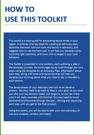 Know It 2 Own It Advocating For Your >> Wso Advocacy Toolkit For Those Who Seek To Advance Stroke Policy Safe