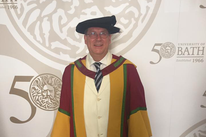 SAFE's President Jon Barrick received an honorary degree of Professional Doctorate in Policy Research and Practice in University of Bath