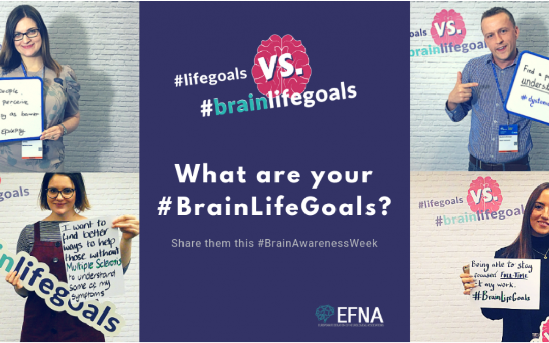 EFNA selected 8 projects to receive #brainlifegoals project grants