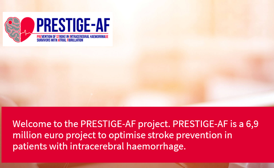 PRESTIGE-AF, a project launched to prevent stroke in patients with brain bleeding, going to ESOC 2019