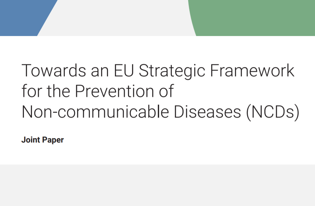 New report – Towards an EU Strategic Framework for the Prevention of NCDs