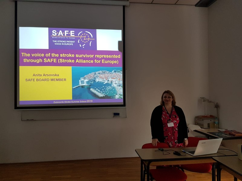 SAFE's political activities presented and promoted during 30th Dubrovnik Summer Stroke School