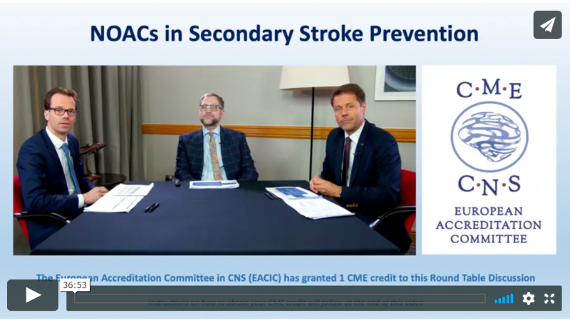 New ORUEN Round Table discussion: NOACs in Secondary Stroke Prevention