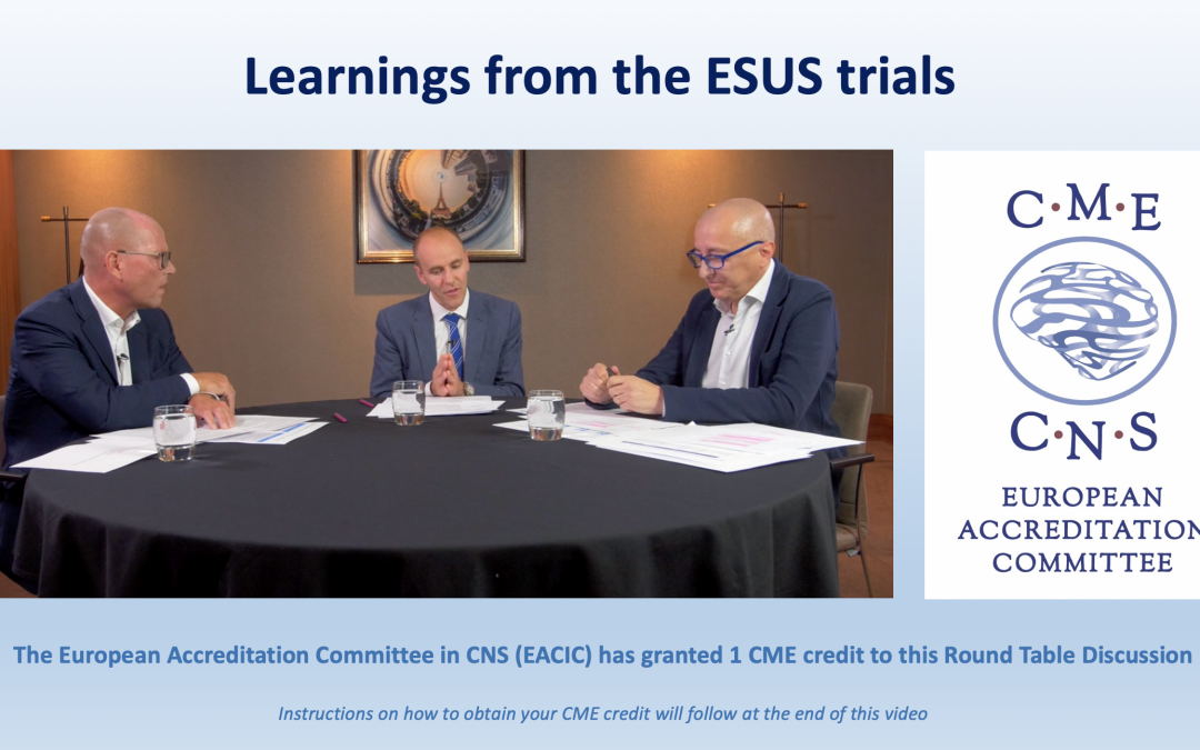 Round Table Discussion for medical professionals: Learnings from the ESUS trials