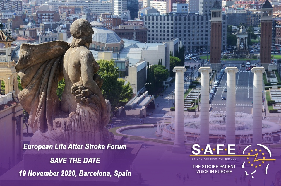 SAVE THE DATE – European Life After Stroke Forum, 19 November 2020, Barcelona, Spain