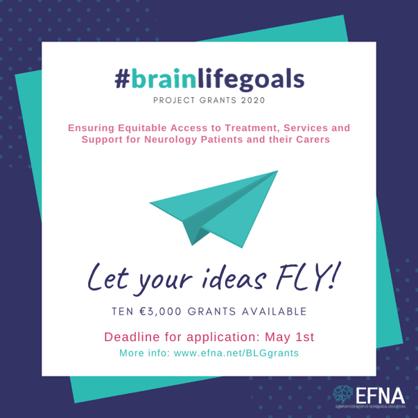 #BrainLifeGoals Project Grants 2020 by EFNA