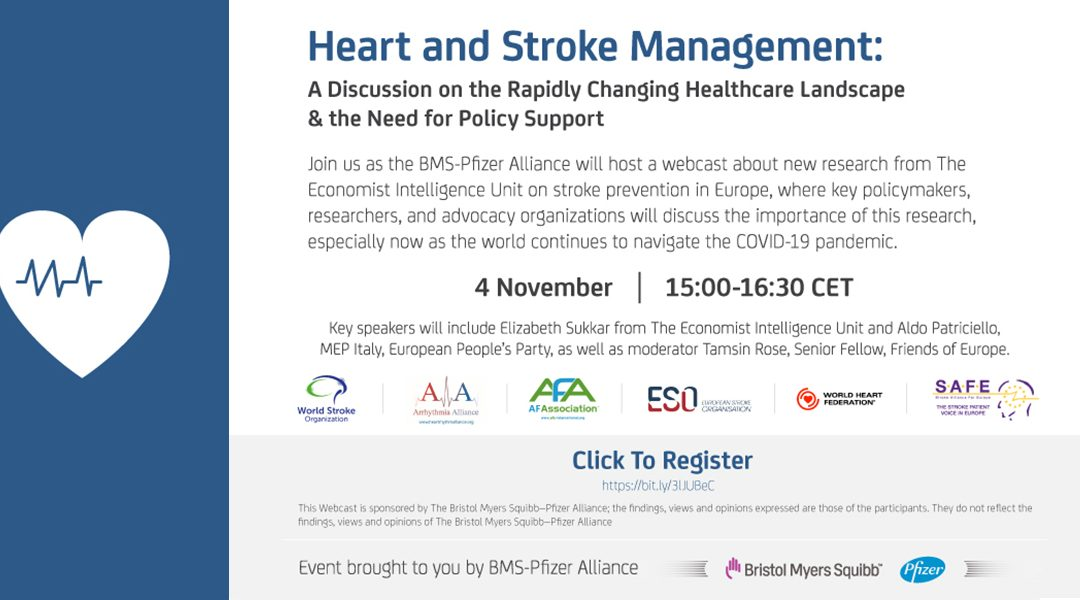 Invitation to a heart and stroke webinar 4 November 2020