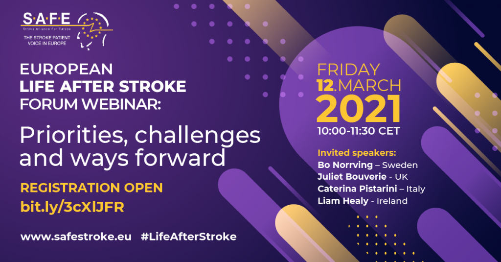 Programme for the 1st in our life after stroke series of webinars released