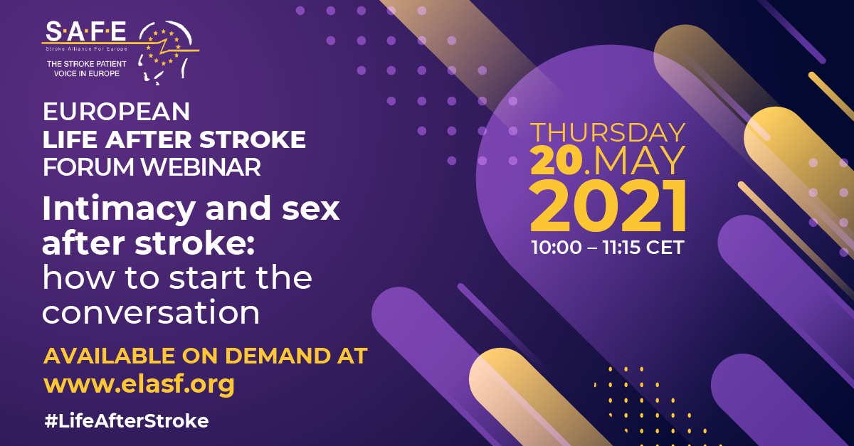 Life After Stroke Intimacy and sex 20 May event is now available on demand