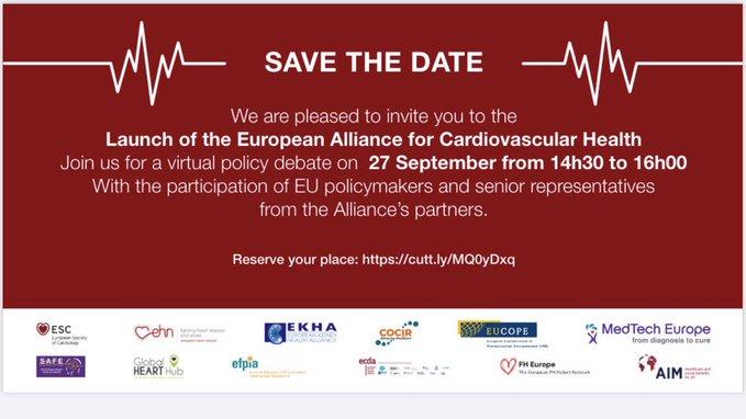 Launch of the European Alliance for Cardiovascular Health