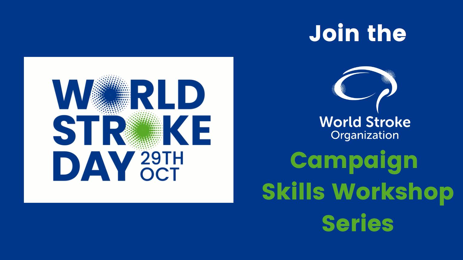 World Stroke Organisation free campaign skills workshops