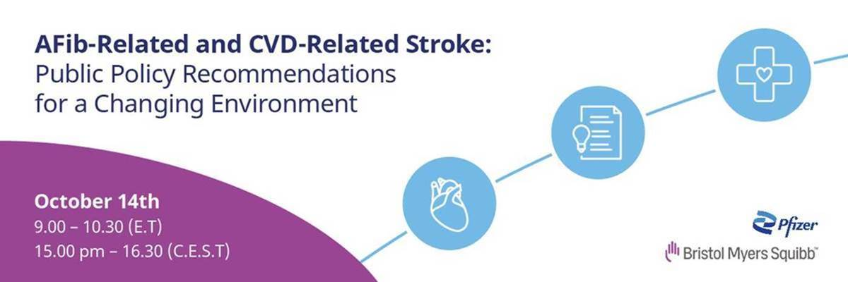 Join us on 14 October at theevent on AFib-related and CVD-related stroke