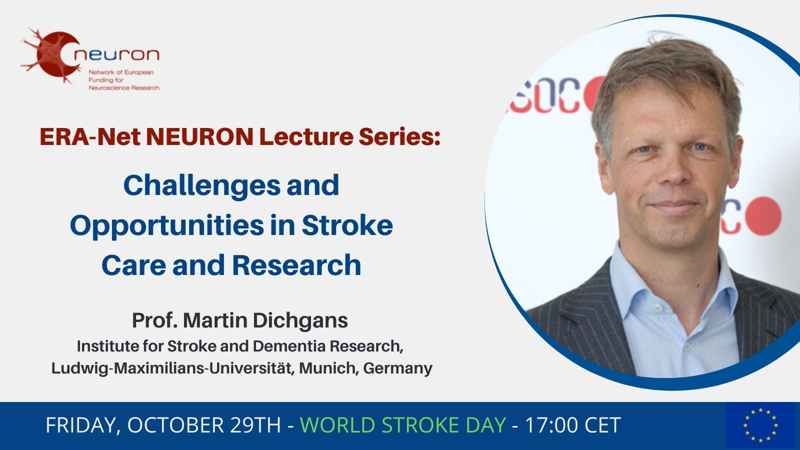 World Stroke Day: Join the lecture: Challenges and opportunities in stroke care and research, 17.00 CEST